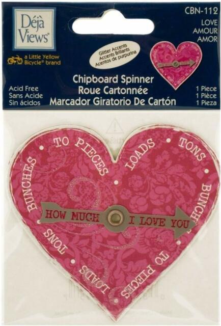 Heart Spinner Chipboard