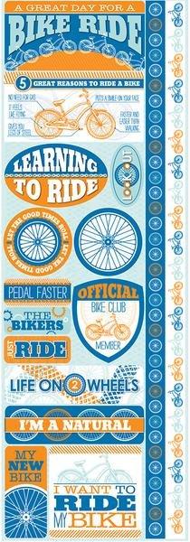 Reminisce Biking Die Cut Stickers