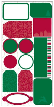 Reminisce Christmas Tags Stickers