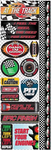 Reminisce Racing Die Cut Stickers