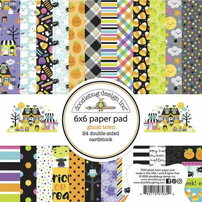Doodlebug Double-Sided Paper Pad 6X6 24/Pkg-Ghost Pumpkin, 12 Designs/2 Each
