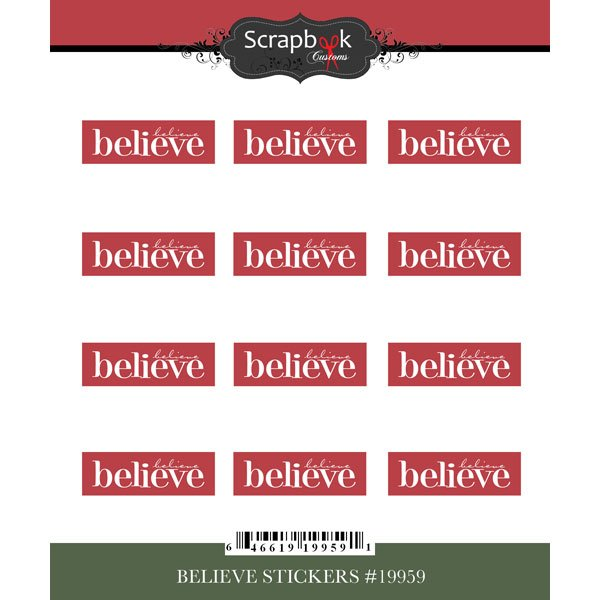 Sbc Christmas Believe Repeat Stickers