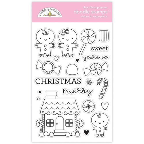 Doodlebug Clear Doodle Stamps-Visions Of Sugarplums