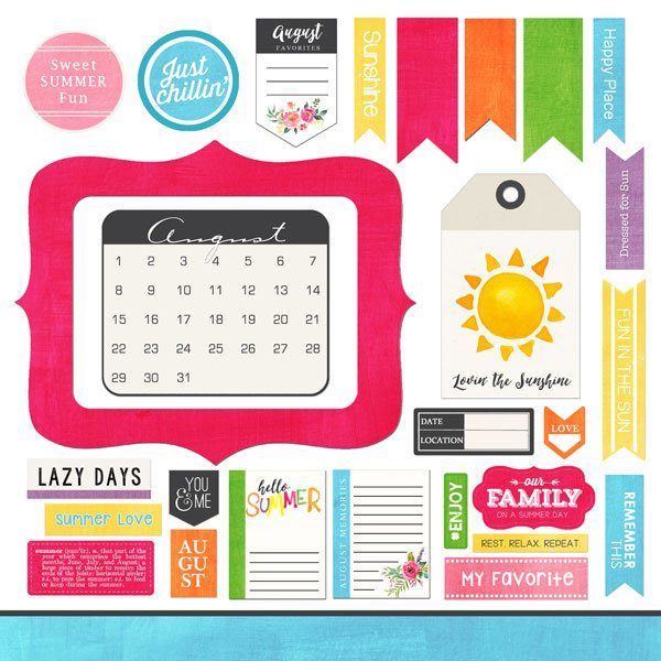 SC Memory Element Stickers August
