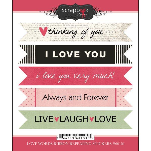 Sbc Love Words Ribbons
