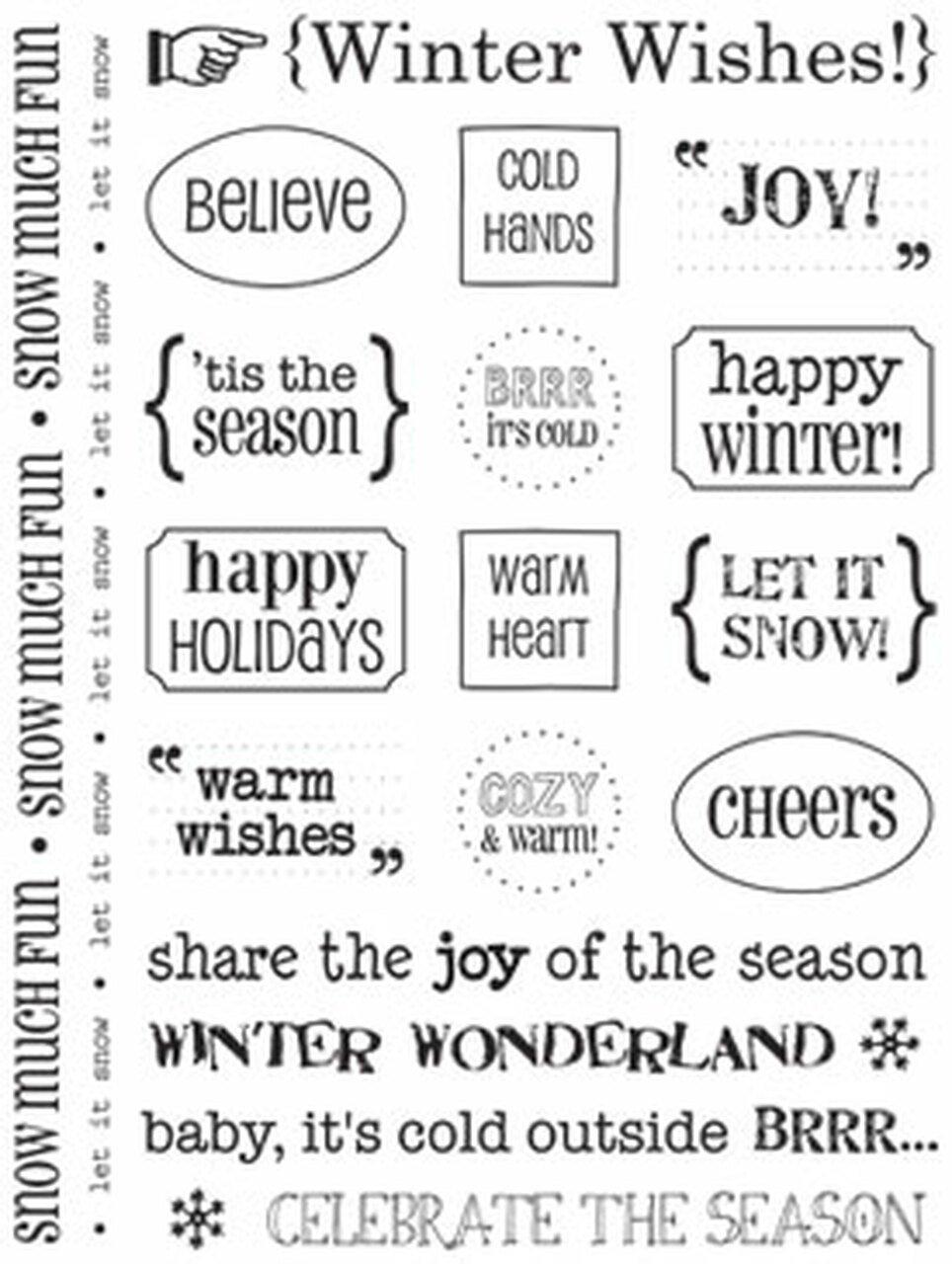 Srm Winter Words