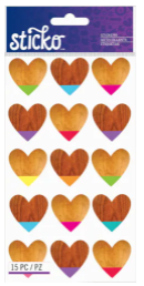 Sticko Color Dipped Hearts