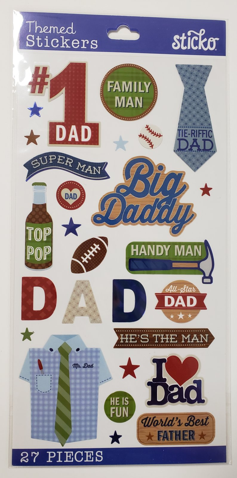 Sticko Family Dad Icon And Words