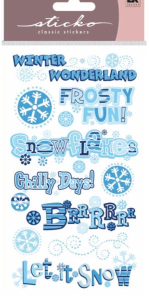 Sticko Winter Frosty Phrases