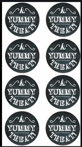 Sticko Yummy Treat Bag Labels