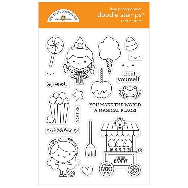 Doodlebug Clear Doodle Stamps-Trick Or Treat, Candy Carnival