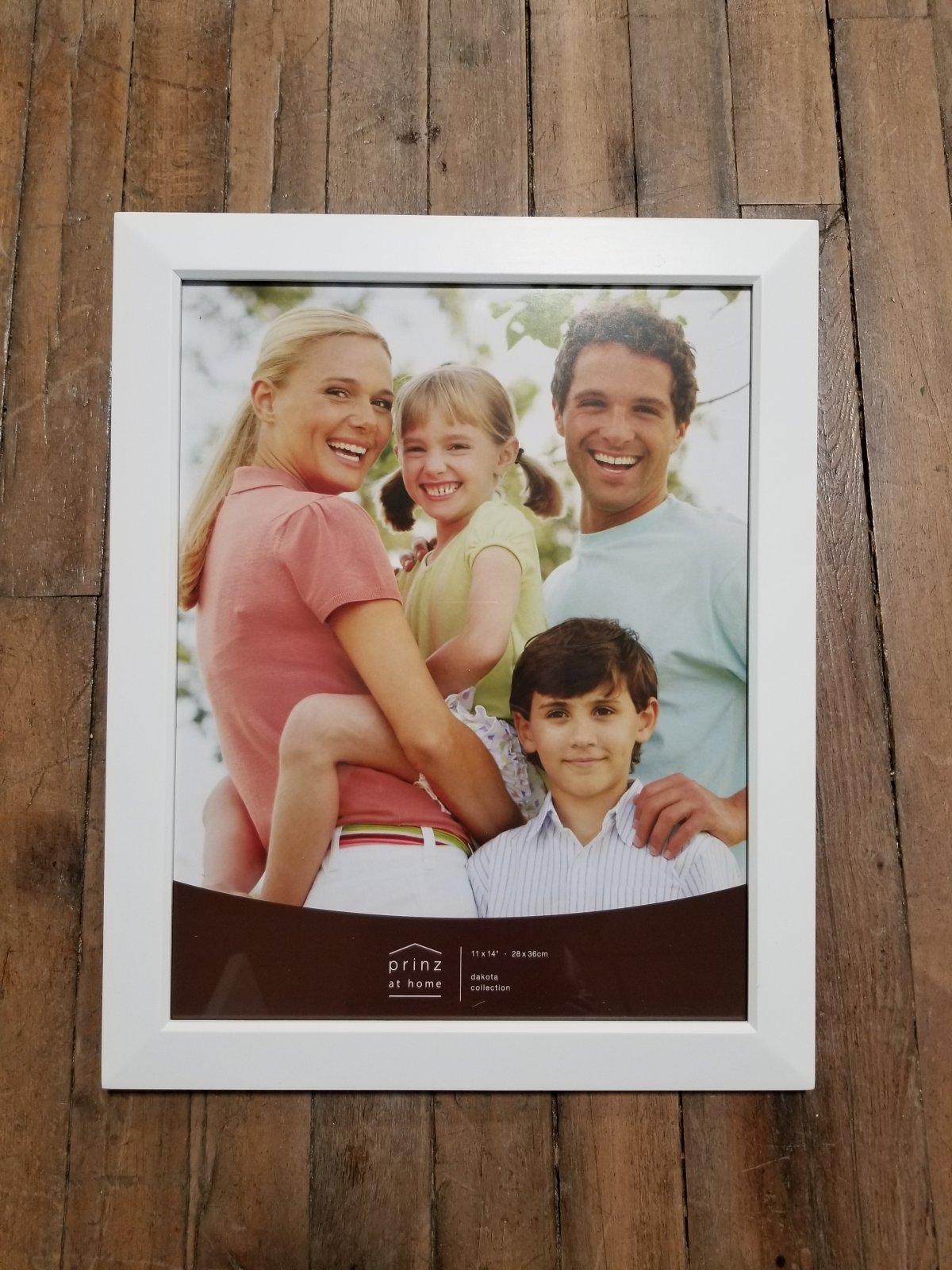 11 x 14 Dakota White Solid Wood Photo Frame