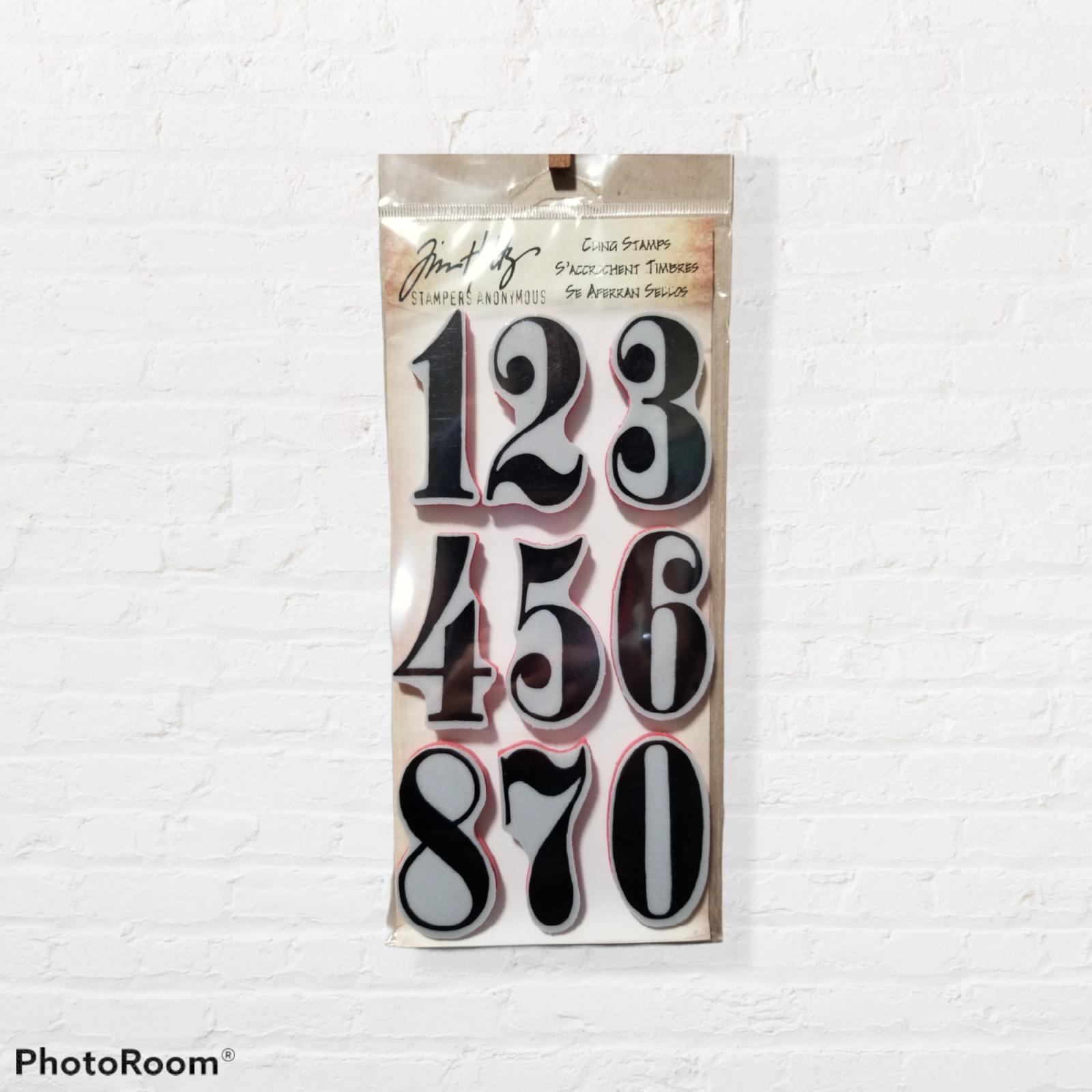 Tim Holtz Number Stamps