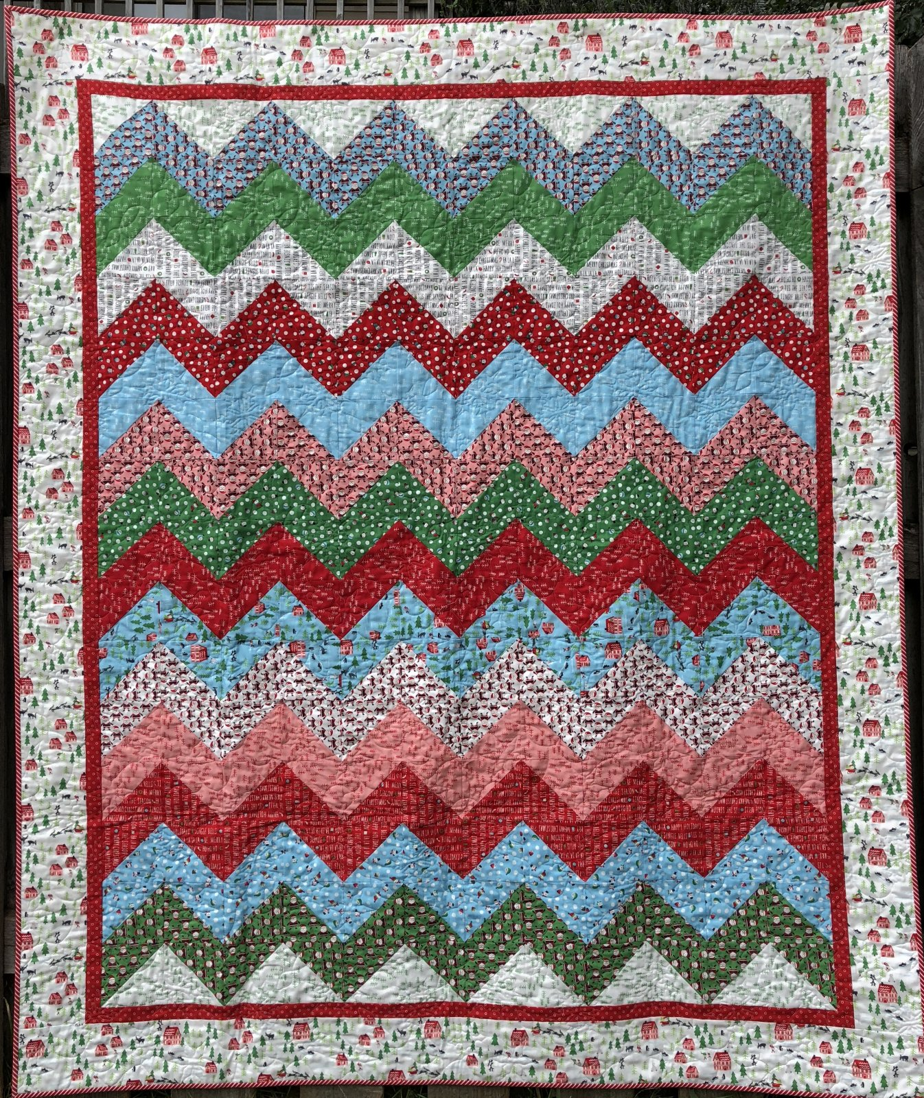 The North Pole Grandma's Rick Rack Quilt Kit by Quilted Moose