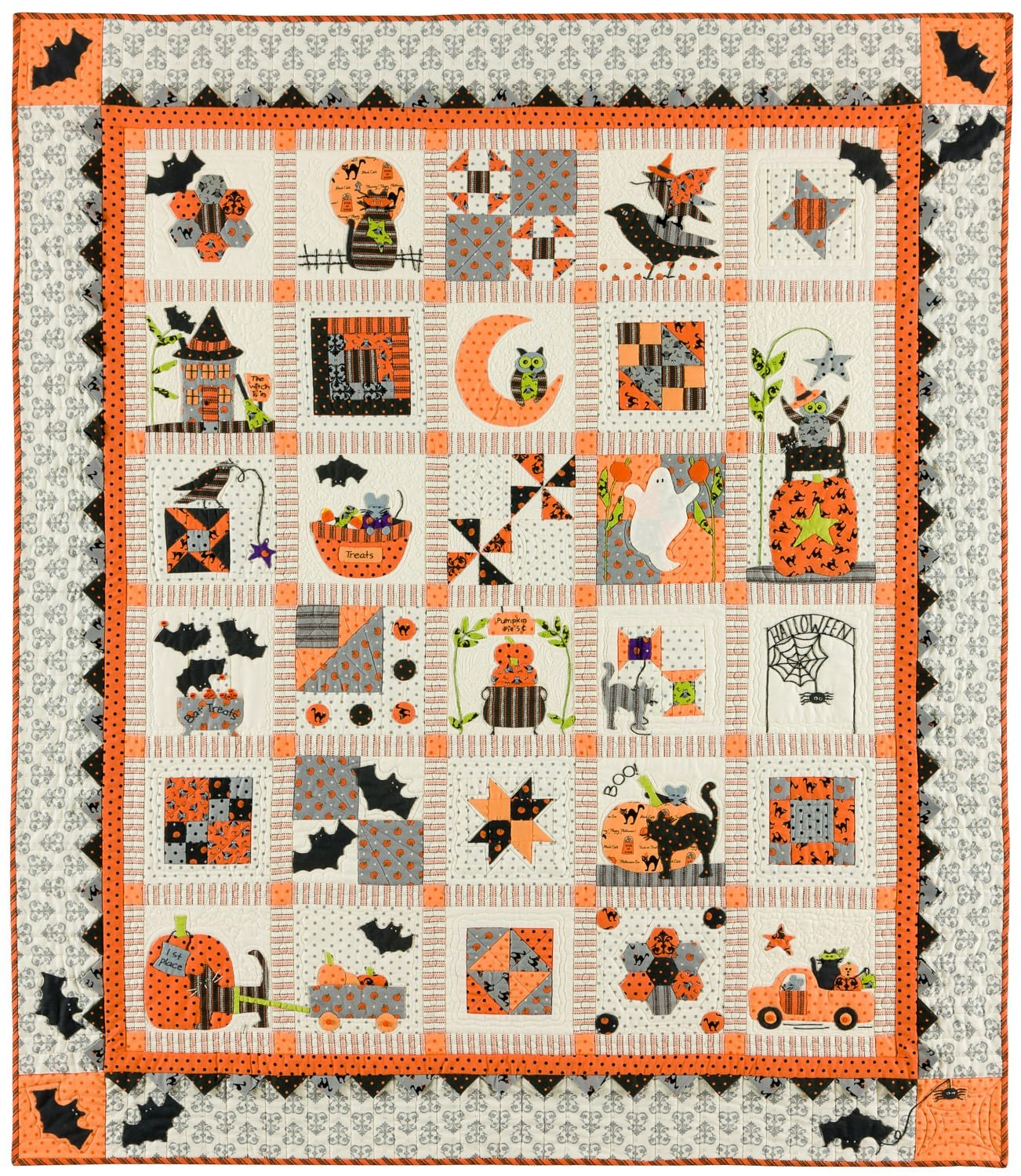 Spooky Halloween Quilt Kit by Bunny Hill Designs