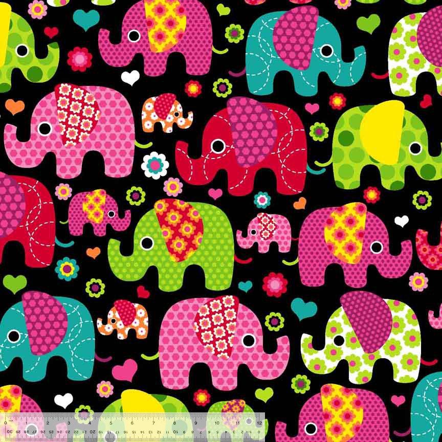 Elephants on Black