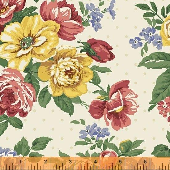 Flowers on Cream