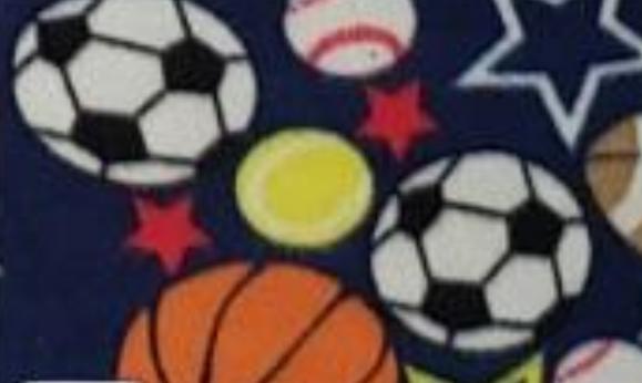 Sportballs on Navy Blue