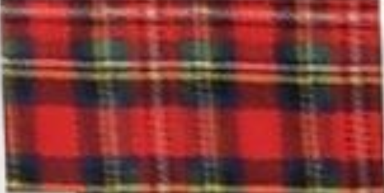 Red Plaid with Yellow Stripe