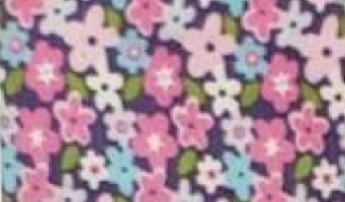 Multi-colored Flowers on Purple
