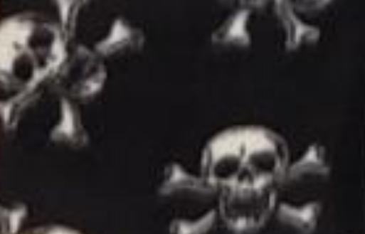 White Skulls on Black