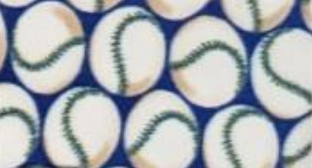 Baseballs on Blue