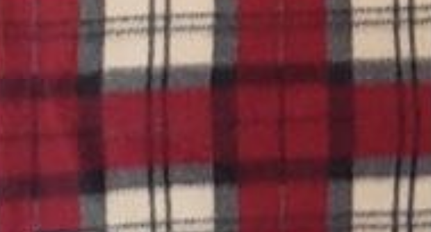 Red, Cream and Gray Plaid