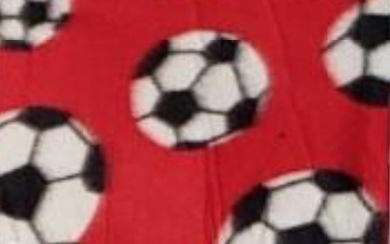 Soccer Balls on Red