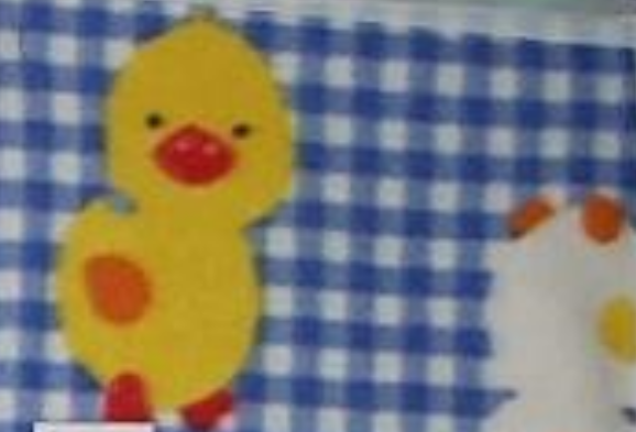 Baby Chicks on Blue Checkered