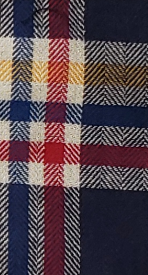 Red, Blue, Yellow, Maroon Stripe Plaid