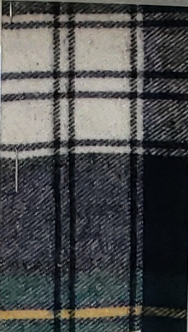 Black and Gray with Yellow Stripe Plaid