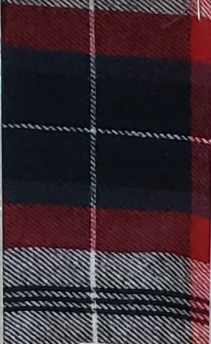 Red and Black Plaid with a White Stripe