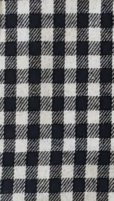 Small Black and White Checked