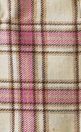 Cream and Pink Plaid