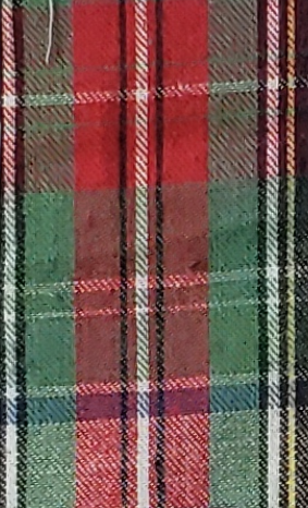 Christmas Red and Green with Blue Stripe Plaid