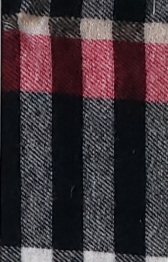 Pink and Gray with Wide Black Stripe Plaid