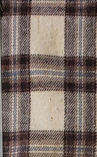 Cream with Brown and Blue Stripe Plaid