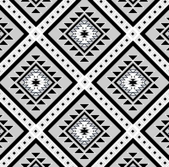 Black, White and Gray Southwestern