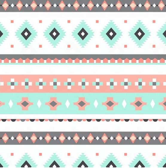Light Green, Coral and Gray Southwestern