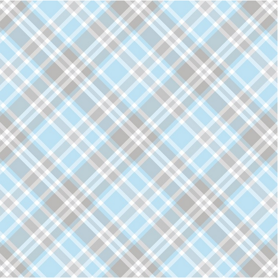 Blue and Gray Plaid