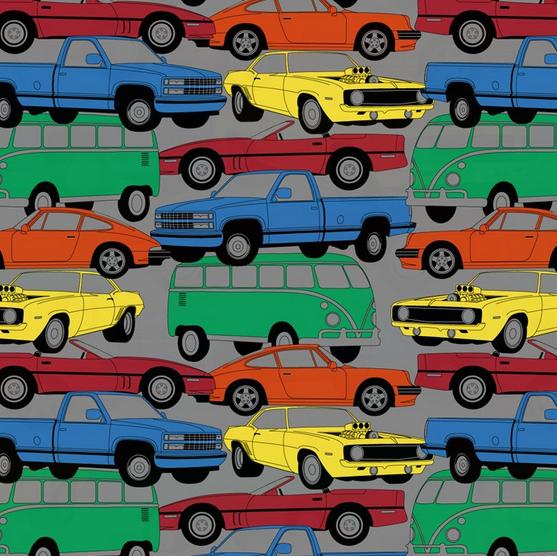 Cars on Gray