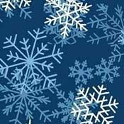Snowflakes on Dark Blue