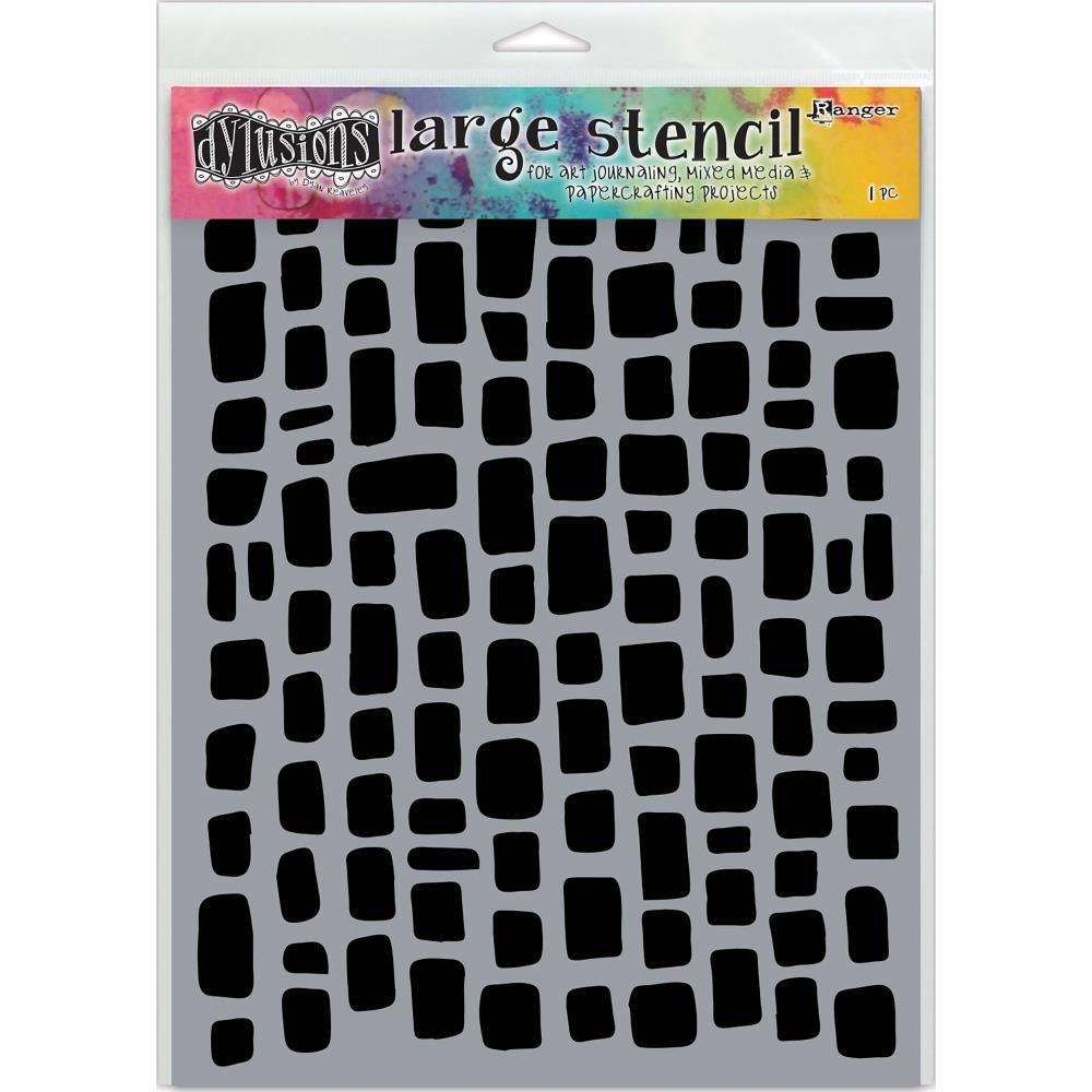 Dylusions Large Stencil - Sugar Lumps