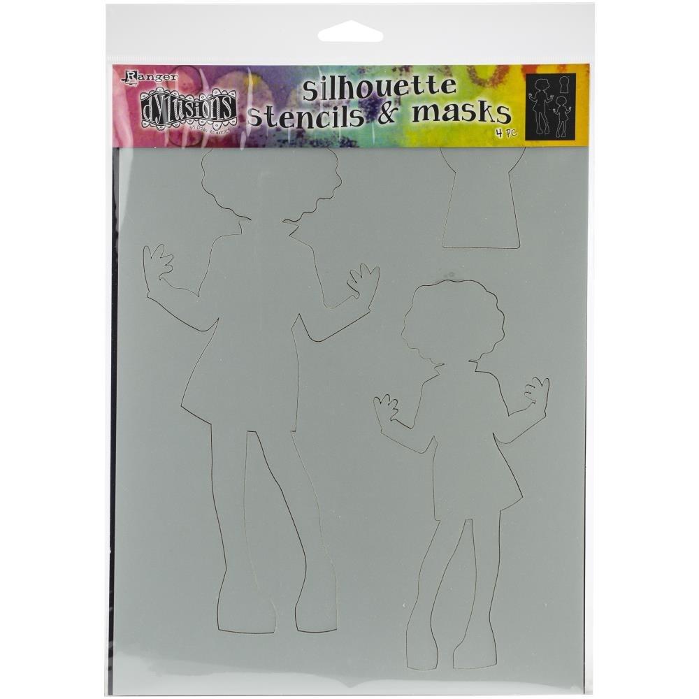 Dylusions Silhouette Stencils & Masks - Maisie