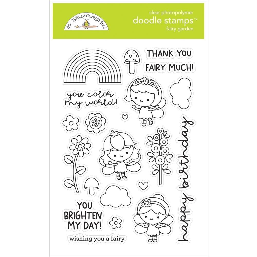 Fairy Garden Doodle Stamp & Die