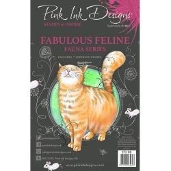 Pink Ink Designs A5 Clear Stamp Set Fabulous Feline