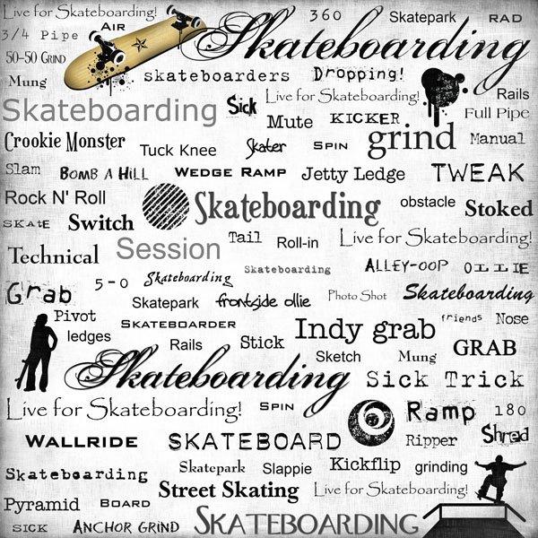 Skateboarding Live For Paper