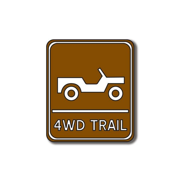 4WD Trail Sign Die Cut