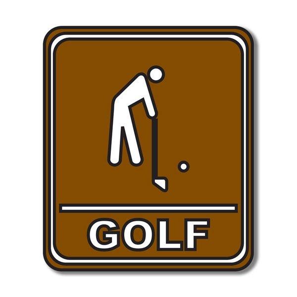 Golf Sign Die Cut