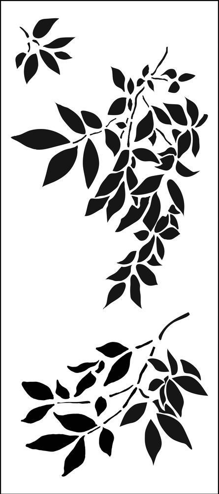 Gentle Leaves Slimline Stencil